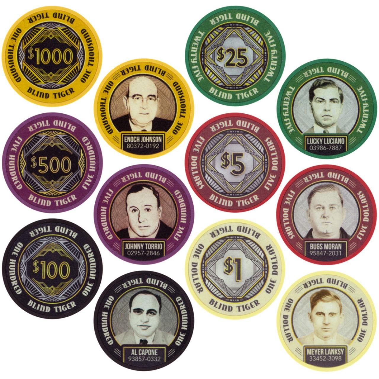 Покерные фишки Mafia Style в оригинальный коробке