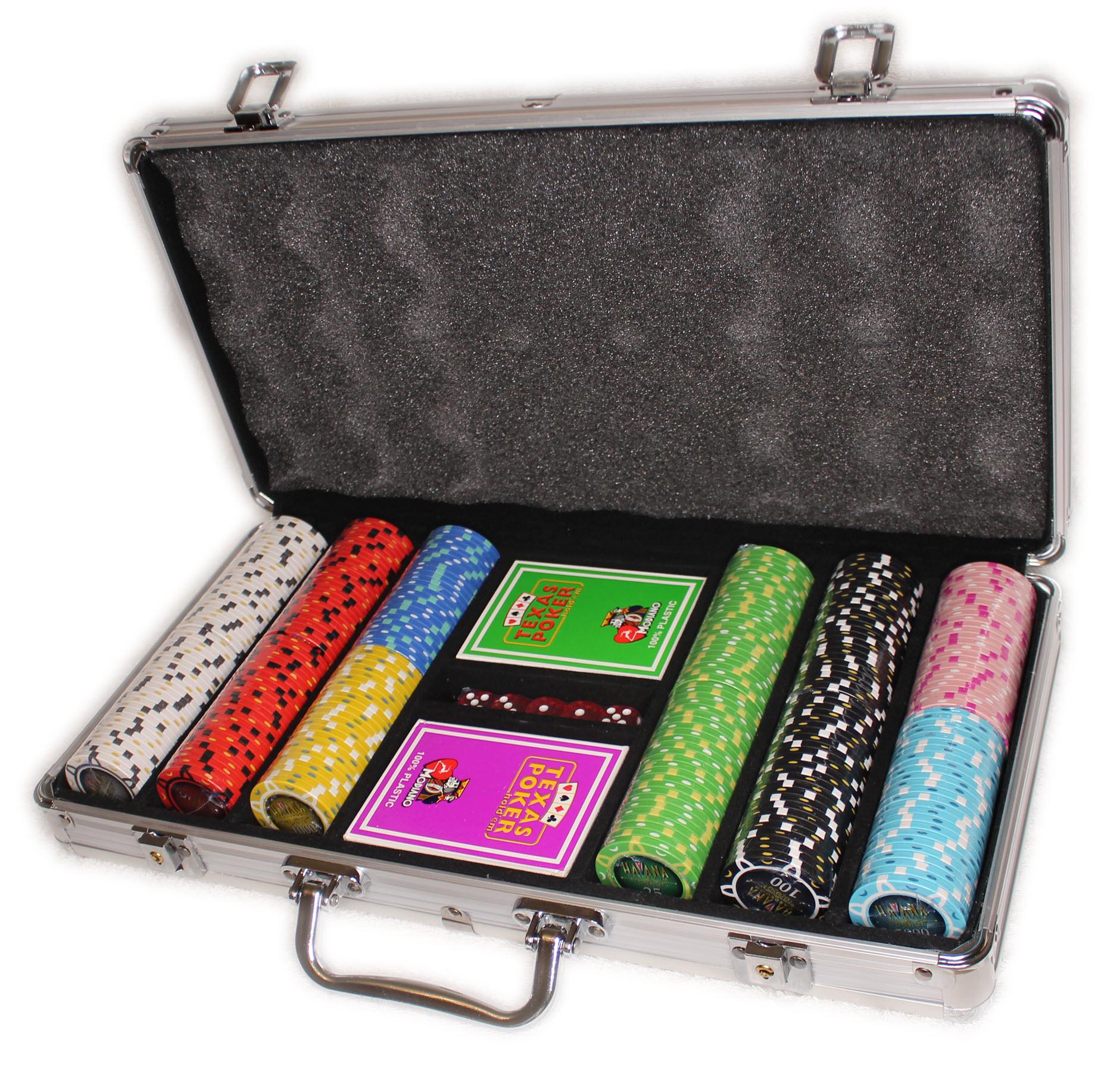 Элитный набор для игры в покер Havana 300 с композитными фишками