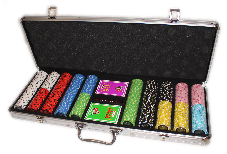 Елітний набір для гри в покер Havana 500 з композитними фішками