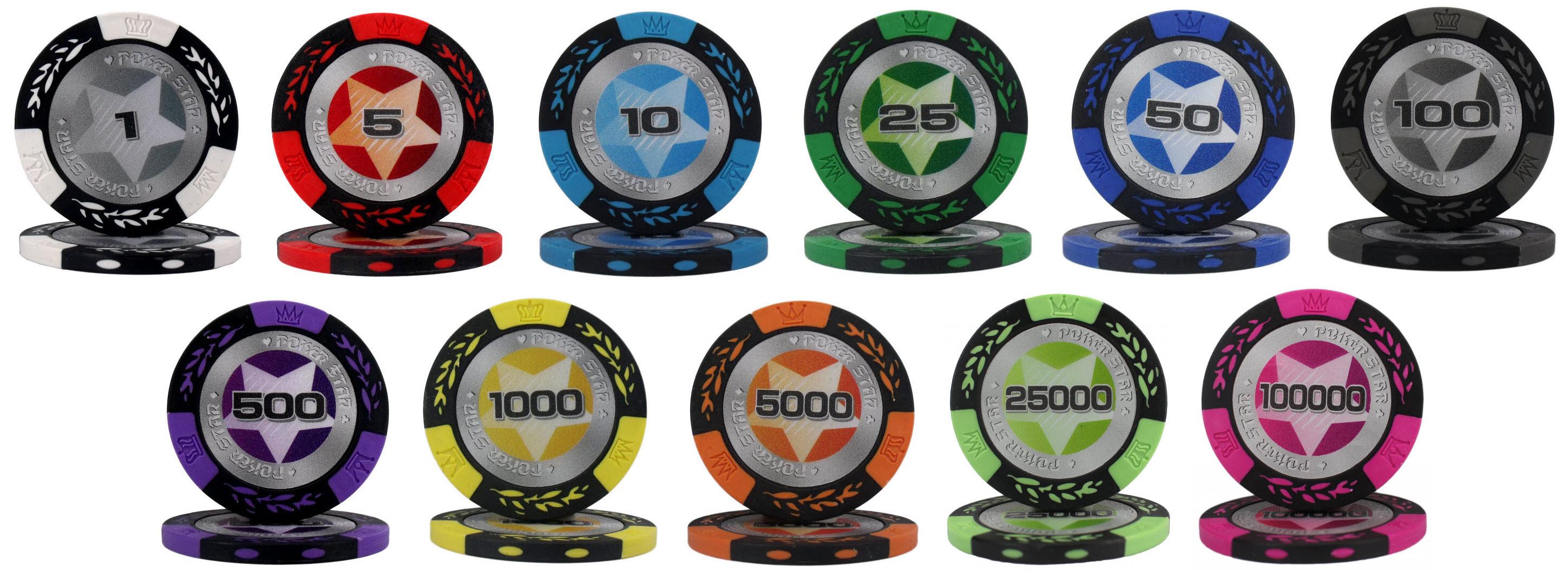 Фишки Poker Star полная коллекция