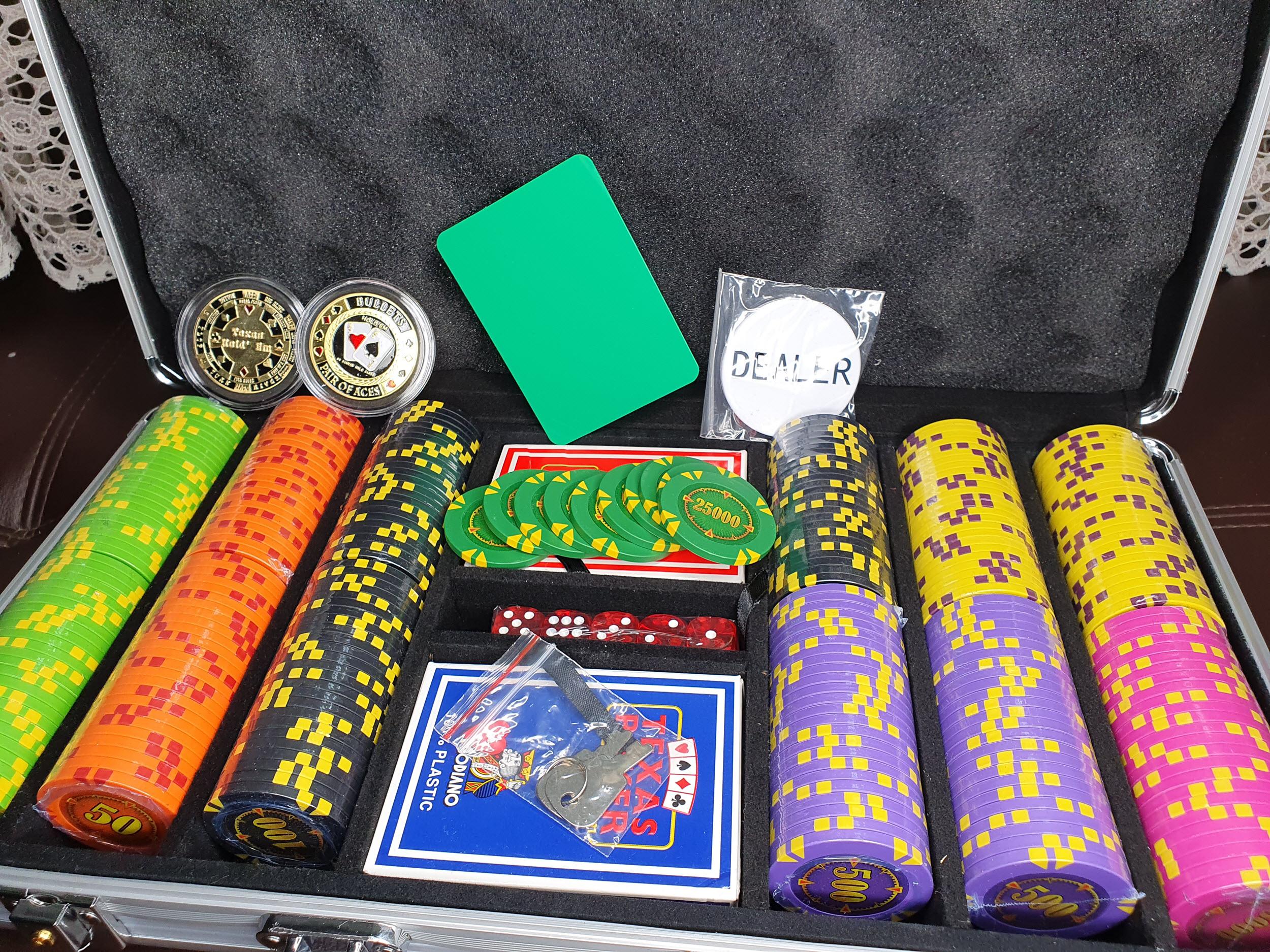 набор для покера на 300 фишек Компас город Бахмут