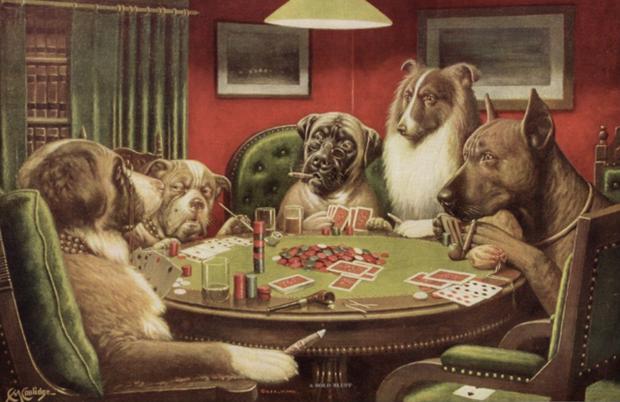 Собаки играющие в покер