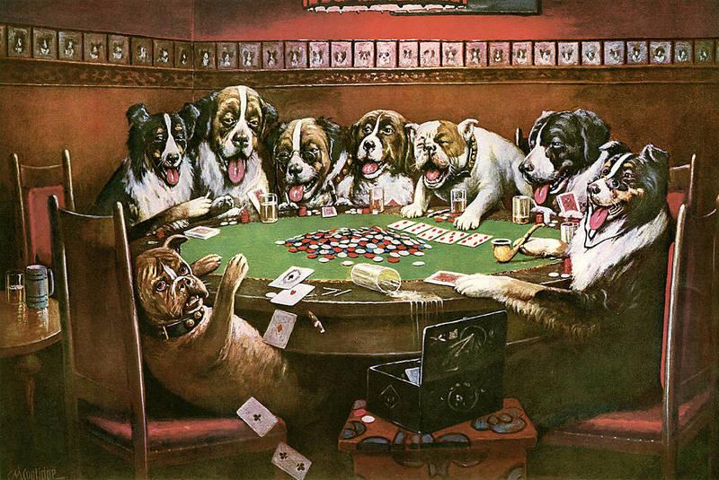 Картина Собаки играющие в покер симпатия