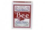 Bee игральные карты для покера, Jumbo колода с красной рубашкой