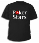 Чорна футболка Pokerstars з вишитим лого