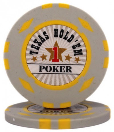 "Фишка ""Texas HoldEm Poker"" номинал 1"