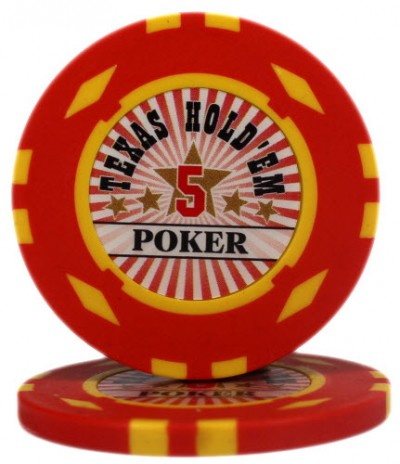 "Фишка ""Texas HoldEm Poker"" номинал 5"