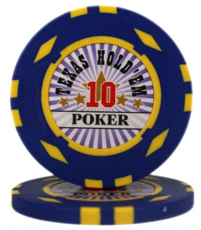 "Фишка ""Texas HoldEm Poker"" номинал 10"