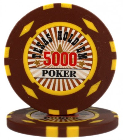 "Фишка ""Texas HoldEm Poker"" номинал 5000"